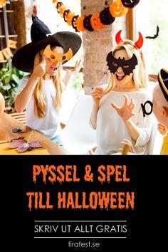 Halloweenpyssel att skriva ut. Massvis med Halloweenstämning! Gratis!  #halloween # halloweenpyssel #halloweenbarn #halloweenpysselbarn #halloweensverige #halloween2019 #halloweenfest #halloweenlekar #halloweenspel #firafest #grapevine #gratis