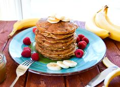 """The last 3 times I've made these peanut butter banana flourless pancakes I heard the overwhelming statement from all three of my boys, """"Mama, you have to put these on your web-site!"""" That's the biggest compliment I can ever get cooking for my family. If the food I make is taste approved by 3 picky...Read More »"""