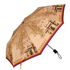 I Love Mumbai Three Fold Umbrella