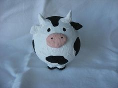 "paper mache galleries | Cow piggy bank. Tirelire vache"" by Johanne Bourget"