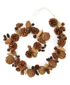 This Pine Cone & Seed Pod Garland is perfect! Thanksgiving Crafts, Thanksgiving Decorations, Christmas Tree Decorations, Rock Crafts, Christmas Crafts, Natural Christmas, Simple Christmas, Christmas Diy, Christmas Wreaths