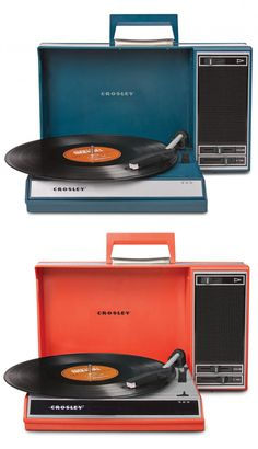 Or this crosley that also has converting capabilities.  Does anyone have any of these reproduction turntables?  Thoughts, comments, concerns?