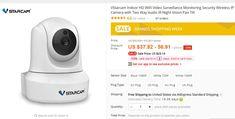 VStarcam Indoor HD WiFi Video Surveillance Monitoring Security Wireless IP Camera with Two Way Audio IR Night Vision Pan Tilt Wireless Video Camera, Waterproof Camera, Dome Camera, Night Vision, Tilt, Audio, Indoor, Interior