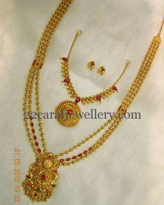 Jewellery Designs: Light Weight Gold Balls Chains