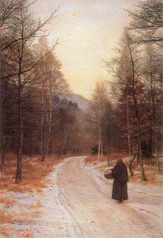 Glen Birnam: 1890 - 1891 by John Everett Millais - (Manchester City Art Galleries, UK) Pre-Raphaelite Brotherhood