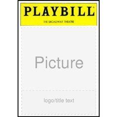 playbill ad template - Google Search | _playbill playing | Pinterest