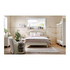 Hemnes cadre de lit teint blanc pinterest hemnes et lits for Ikea pleine taille futon
