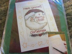 BUCILLA, ALMA LYNNE, HAVE YOURSELF A MERRY LITTLE CHRISTMAS, CHRISTMAS CARD #BUCILLA #JINGLEBELLSGREETINGCARD.  eBay item number:131570738797