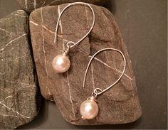 Sleek, minimalist handmade wire-wrapped pearls +more. SOON @ joyfulbynature #Etsy #jewelry #earrings