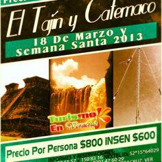#Tours a #Catemaco y #ElTajin a #precios de #locura este #puente de #marzo y en #SemanaSanta +Info http://www.turismoenveracruz.com.mx/CatemacoyTajinSemanaSanta2013.htm #promociones #promocion #viajes #turismo #guía #arqueología #pirámide #voladores #Papantla #excursión #Veracruz #México