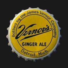 Vintage Vernors bottle cap - 16x16 Canvas wrap - Man Cave - rec room - retro - Detroit - wall decor. $75.00, via Etsy.
