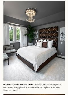 Love love love the headboard and color palette
