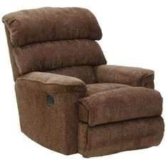 Catnapper Pearson Chaise Rocker Recliner in Coffee with Power Option