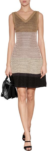 Missoni Open Knit Colorblock Dress