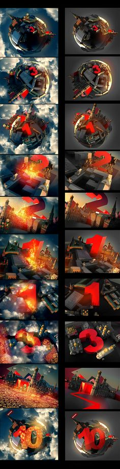 MTV_project in moscow/ TOP 10 by egor antonov, via Behance. Motion and broadcast graphics style frames