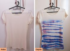 DIY T-shirt: http://customizando.net/customizando-camiseta-de-um-jeito-facil/