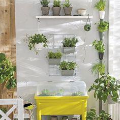 Mesa de cultivo ideal para espacios minis.