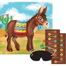Tape a Santa hat on the donkey's head