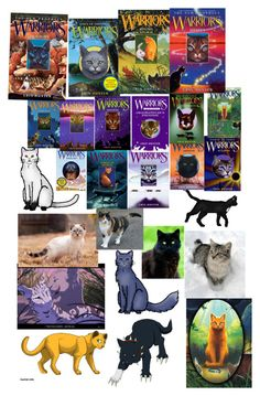 """""""Warrior cats"""" by armamak ❤ liked on Polyvore featuring art"""