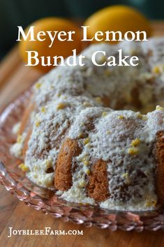 """This meyer lemon bundt cake uses just two of these fragrant and juicy fruits. If you only have access to regular lemons, you'll need 3 to equal the amount of zest and juice in this recipe that two meyer lemons have. This is lovely for a light, refreshing tea cake. Plate it with a pretty vintage plate from the thrift store and share it with a neighbor. Tell them you don't need the plate back, and they can """"pay it forward"""". Start a happy neighborhood trend and build your community up. Here's t..."""