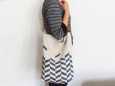 Everyday tote bag - Chevron print
