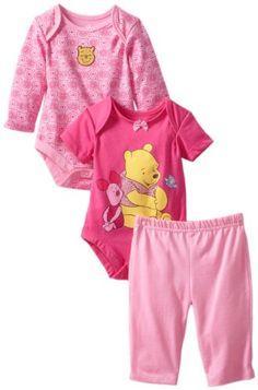 Disney Baby Baby-Girls Newborn 2 Piece Boysuit with Pant Set, Pink, 0-3 Months