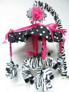 Zebra Mobile Custom Crib Mobile Limited Edition with Canopy. $159.95, via Etsy.
