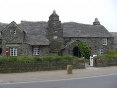 Old post office at Tintagel Cornwall UK