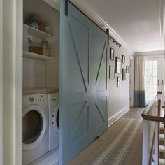 Sliding door for laundry
