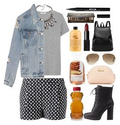 """A nice drive down memory lane"" by eclectic-chic ❤ liked on Polyvore featuring Band of Outsiders, ADAM, UNIF, Charlotte Russe, Ray-Ban, Harrods, NARS Cosmetics, Stila, Urban Decay and philosophy"