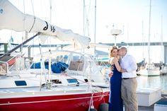 Downtown Charleston SC Marina Engagement Session | Dana Cubbage Weddings | www.danacubbageweddings.com