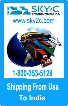 Sky2c offers Shipping to India Service from United States on affordable rates . For Quotes you can call us @ 510-743-3300.