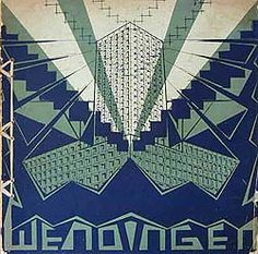 Wendingen magazine, March 1923 : High Buildings in the Commercial Centres of Europe and America - Cover Johan Polet