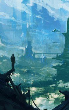 Environment concept, Nagy Norbert on ArtStation at https://www.artstation.com/artwork/6xzAw