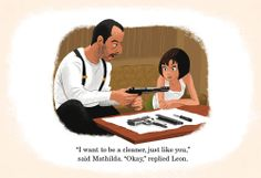 really fun movie frames done as children's book illustrations   by Josh Cooley