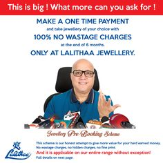 LALITHAA_JEWELLERY Pre Booking Scheme. For details visit - http://www.lalithaajewellery.com/special