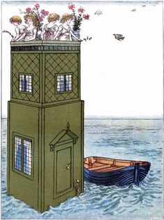 Whimsical Children at Sea Picture! - The Graphics Fairy