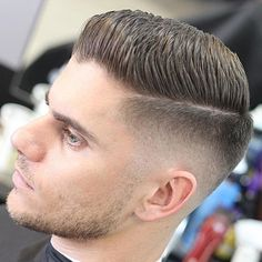 Fade with Part and Spiky Hair