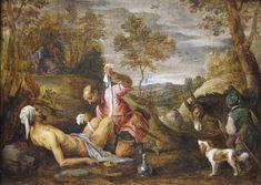 The Good Samaritan' by David Teniers the younger after Francesco Bassano