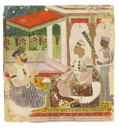 Nizam Ali Khan Asaf Jah II And Prime Minister Aristu Jah In The Style Of Venkatachellam #sothebys #auction