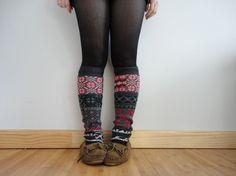 { sweater leg warmers }