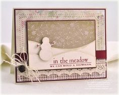 In the Meadow card by Debbie Olson for Papertrey Ink (October 2011).