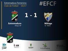 Segunda División   Extremadura 1-1 Málaga  Goles de Marga para el Extremadura y María para el Málaga  #EFCF #futfem