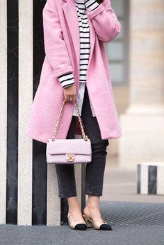Pink Chanel Bag & Chanel slingbacks