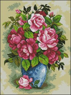 Easy Cross Stitch Patterns, Simple Cross Stitch, Bead Loom Patterns, Cross Stitch Designs, Stitching Patterns, Cross Stitch Fruit, Cross Stitch Rose, Cross Stitch Flowers, Cross Stitching