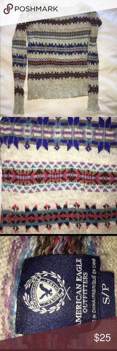 American eagle sweater Festive American eagle scoop neck sweater, worn once. American Eagle Outfitters Sweaters Crew & Scoop Necks