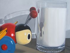 Buzzy Bee & Milk by Matt Guild for Sale - New Zealand Art Prints