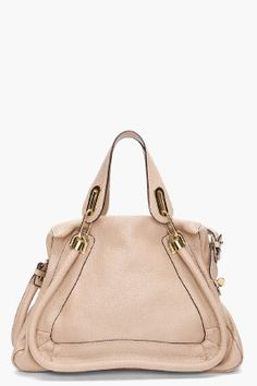 CHLOE // Beige Medium Paraty Bag