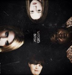 Taissa Farmiga as Zoe, Gabourey Sidibe as Queenie, Jamie Brewer as Nan and Emma Roberts as Madison in Coven.