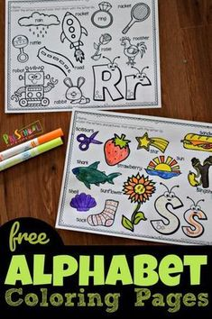 Free Cute Alphabet Coloring Pages, These super cute alphabet coloring pages are a fun way for toddler, Preschool, and kindergarten age kids to practice identifying letters and the sounds they make while strengthening fine motor skills and having fun. Preschool Lessons, Preschool Worksheets, Preschool Learning, Preschool Printables, Preschool Activities, Kindergarten Age, Toddler Preschool, Kindergarten Coloring Pages, Preschool Birthday